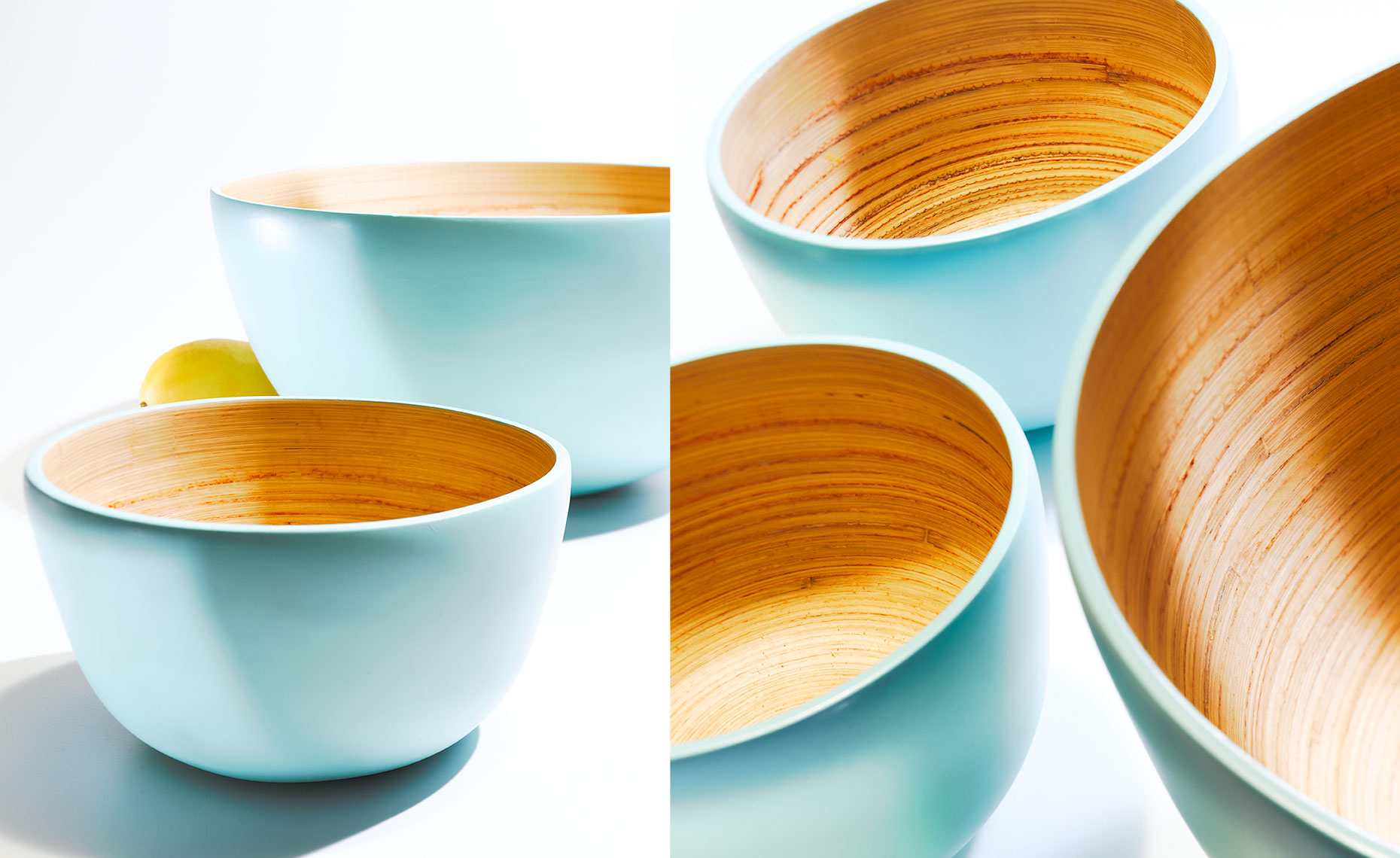 Blue and orange bowls