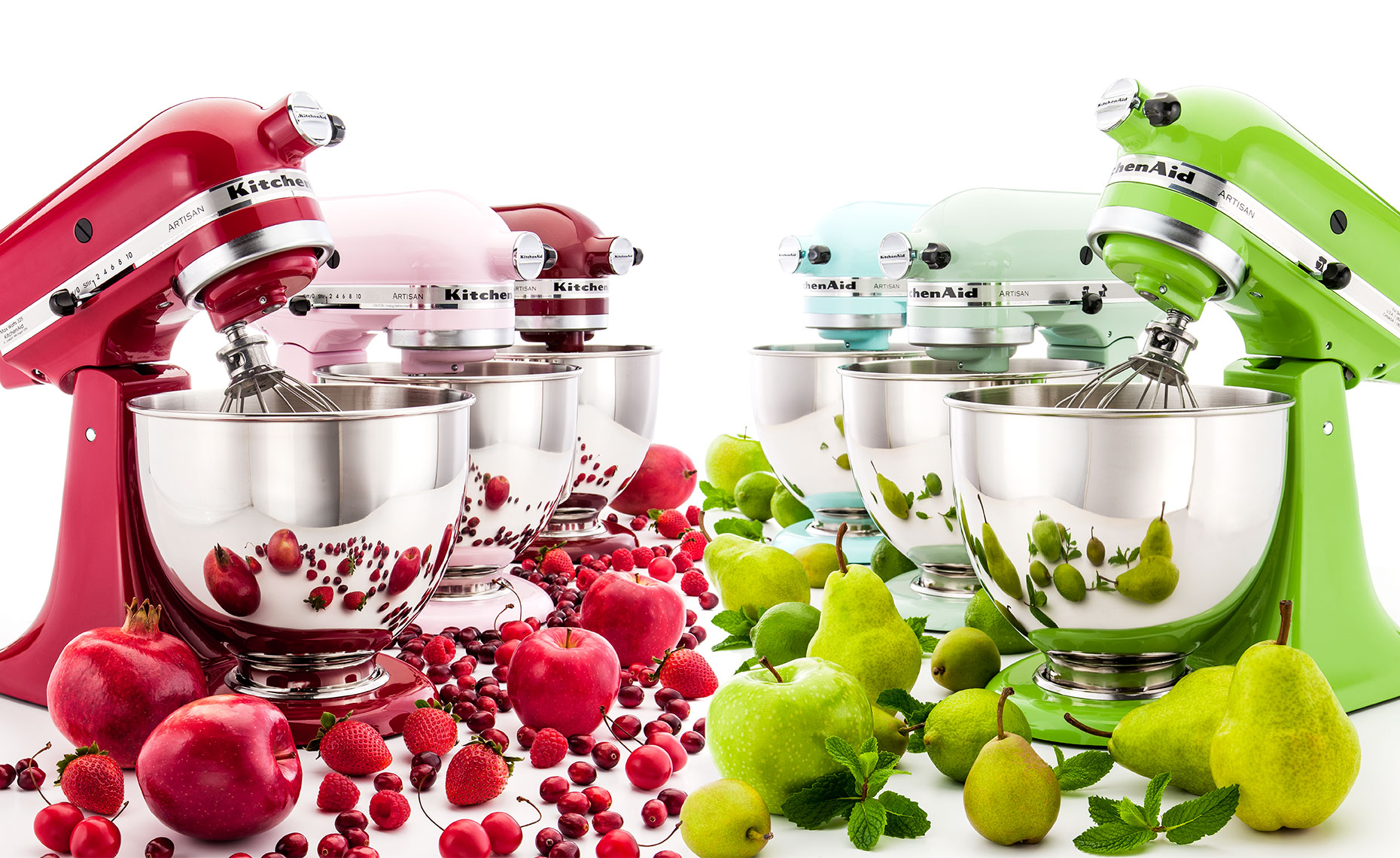 Kitchenmaid blender lineup with tons of fruit