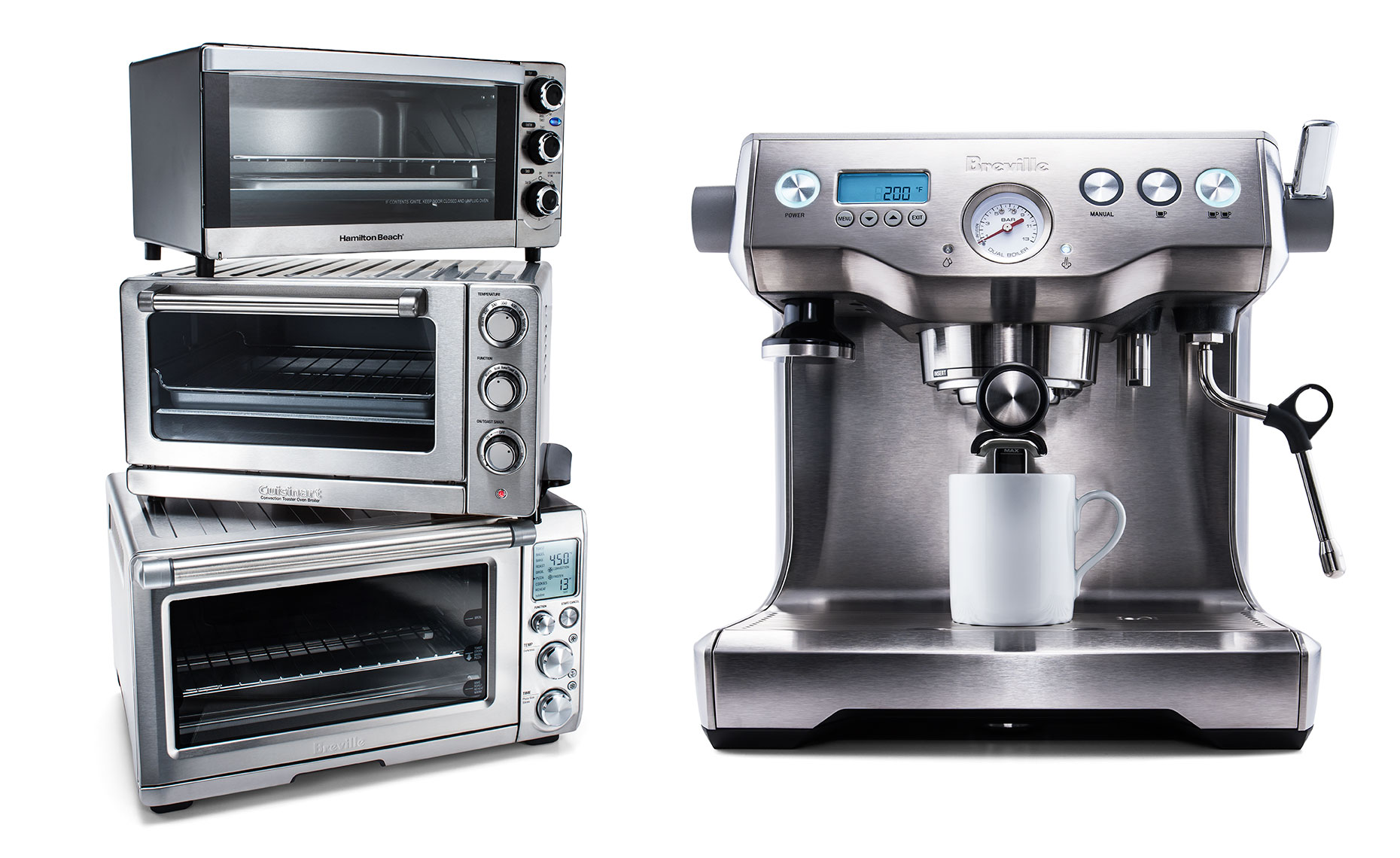 Hamilton beach toaster ovens and Breville Espresso maker