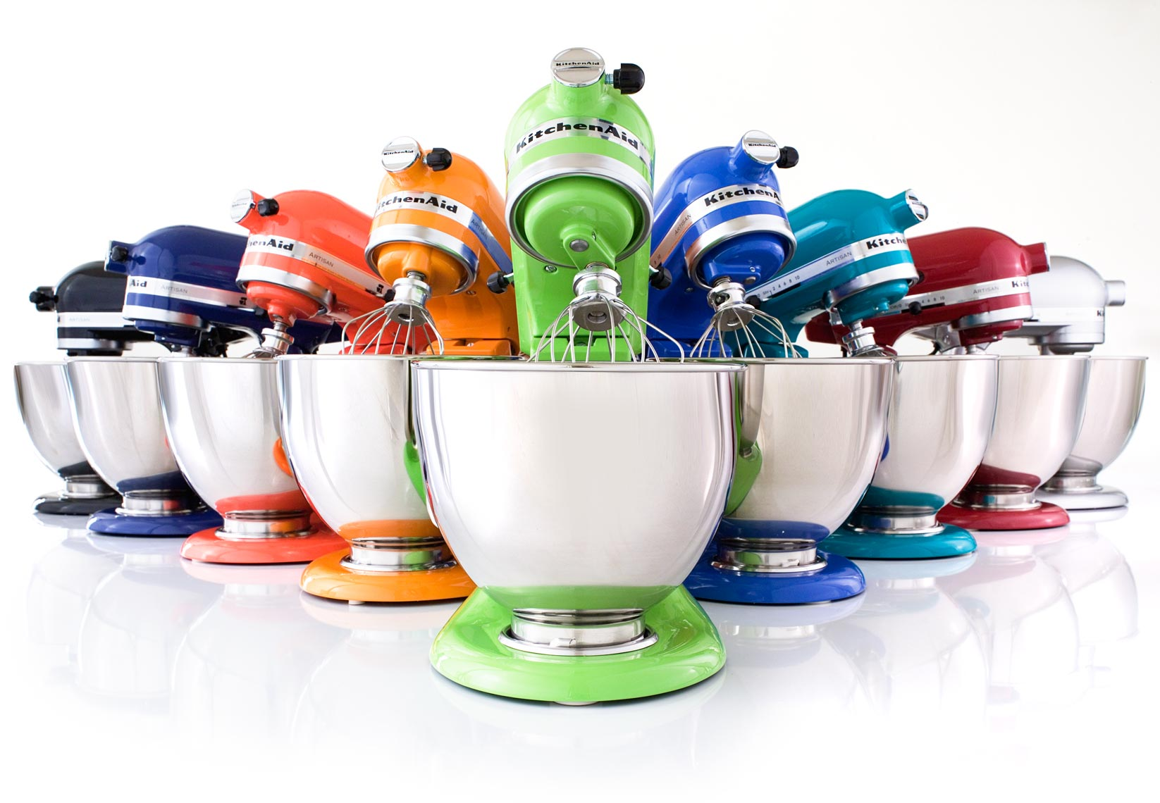 Lineup of kitchen aid blenders