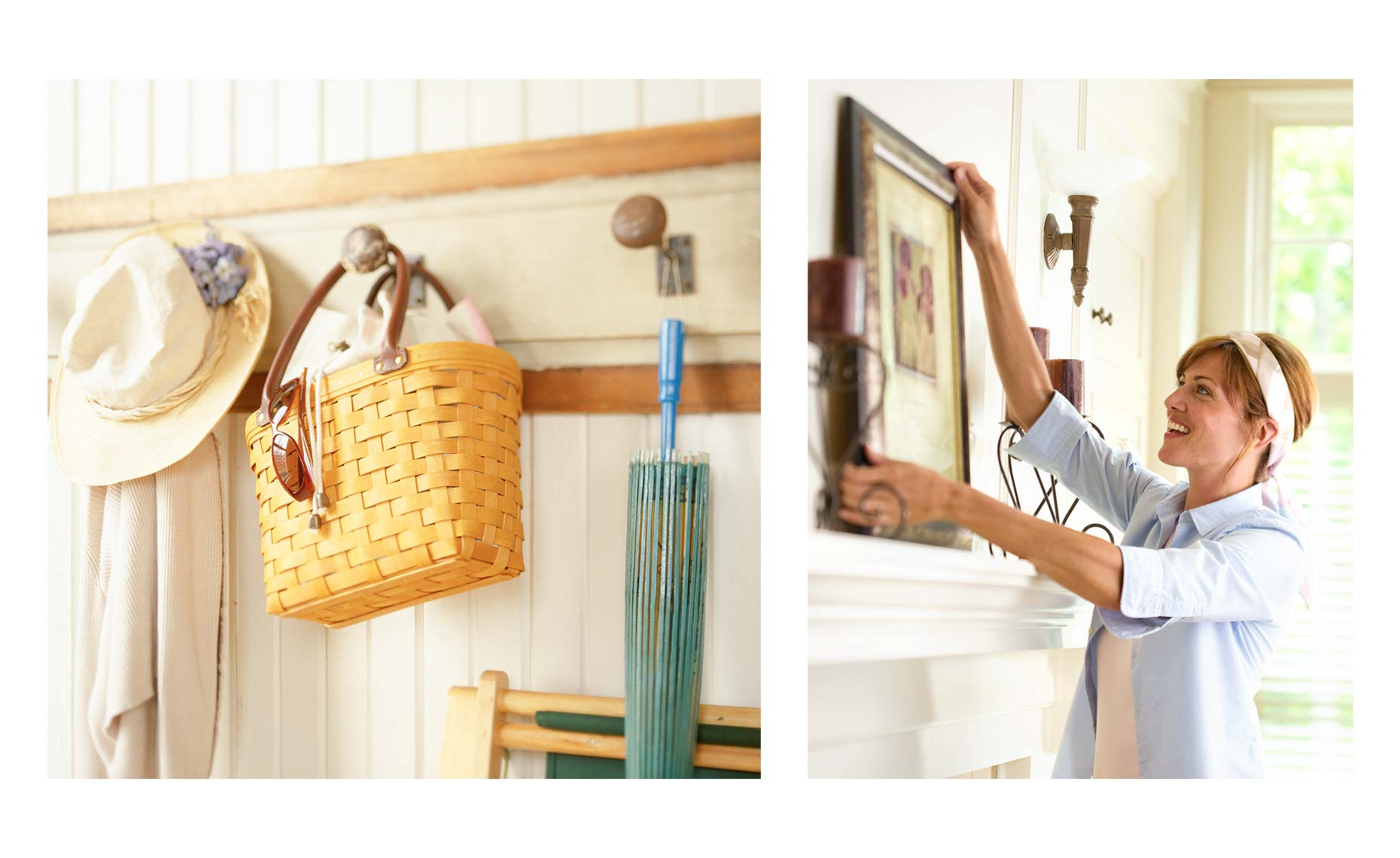Lifestyle imagery in house for Longaberger