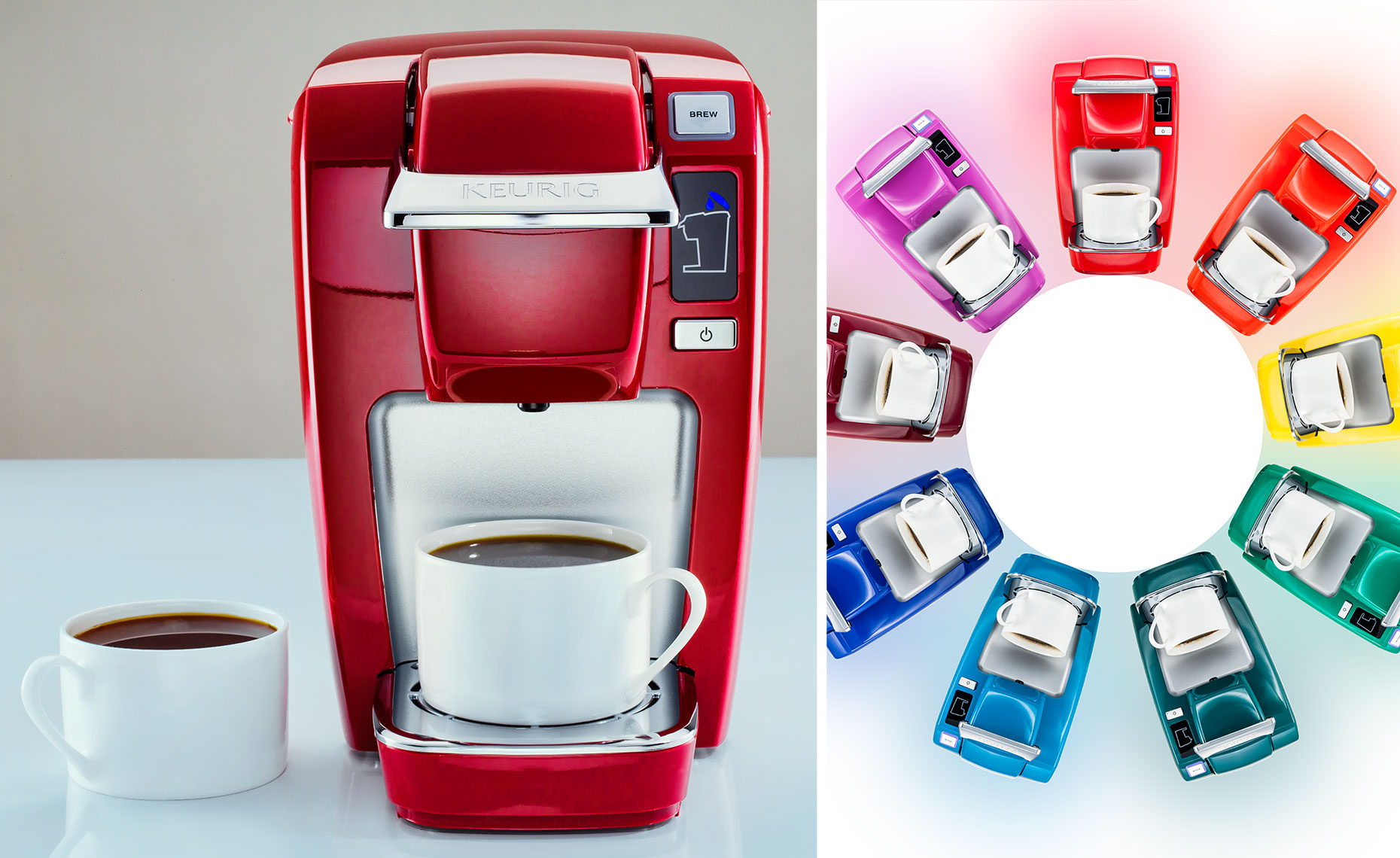 Keurig machine single and circle of multiple machines