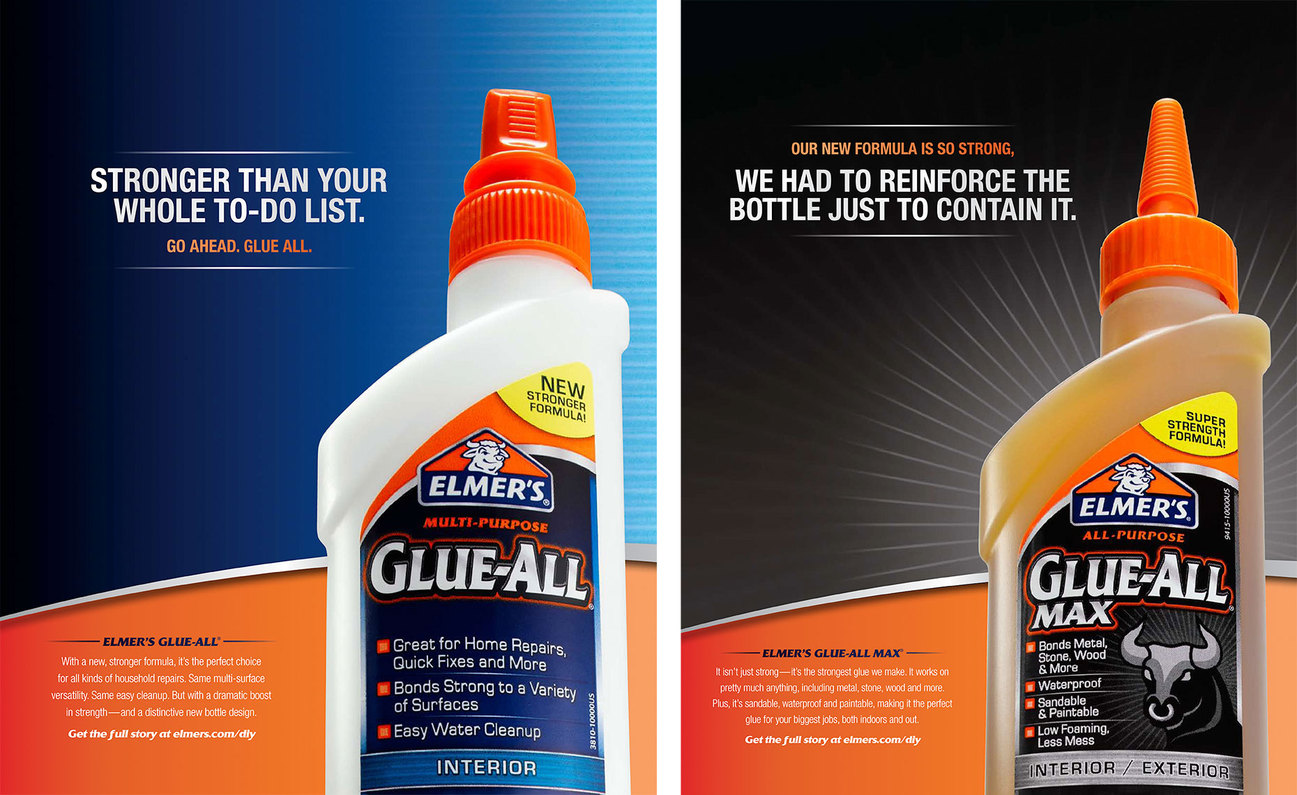 Elmers glue-all advertisement
